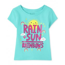 Baby And Toddler Girls Rainbows Graphic Tee