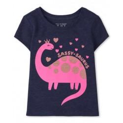 Baby And Toddler Girls Sassy Dino Graphic Tee
