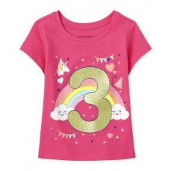 Toddler Girls Birthday 3 Graphic Tee