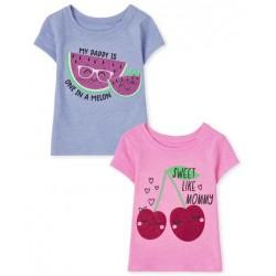 Toddler Girls Fruit Graphic Tee 2-Pack