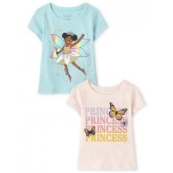 Toddler Girls Princess Graphic Tee 2-Pack