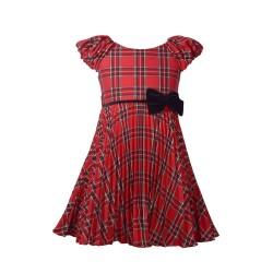 Bonnie Jean Toddler Girls Crystal Pleat Plaid Dress
