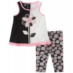 Toddler Girl Kids Headquarters Tank & Floral Leggings Set