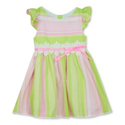 Rare Editions Toddler Girls Striped Fit & Flare Dress