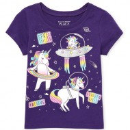 Toddler Girls Glitter 'Space Unicorn' Graphic Tee by Children's Place