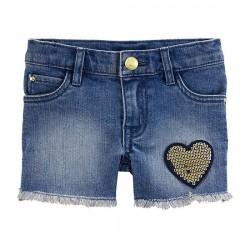 Carter's Flip-Sequin Heart Denim Shorts - Toddler