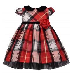 Bonnie Jean Plaid Peter Pan Holiday Dress
