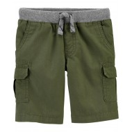 Carter's Pull-On Cargo Shorts - Toddler Boy - Olive