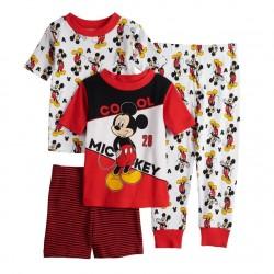 Disney's Mickey Mouse Toddler Boy's  4 Piece Pajama Set