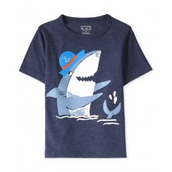 Baby And Toddler Boys Shark Graphic Tee  by CP