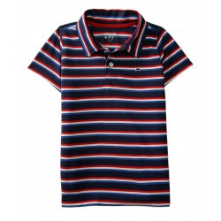 LIGHT WEIGHT Toddler Boys Short Sleeve Piqué Polo by  Crown & Ivy
