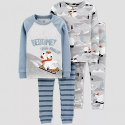 Boys' 4pc Polarbear Pajama Set - Just One You made by Carter's