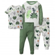 Gerber 4-Piece Boys Cotton Pajamas - Snooze-A-Saurus
