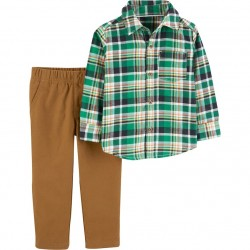 Carter's  Button Down Shirt & Khaki Pants Set Toddler Boy
