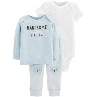 "Carter's 3-piece. ""Handsome Little Fella"" Bodysuit, Tee & Pants Set"