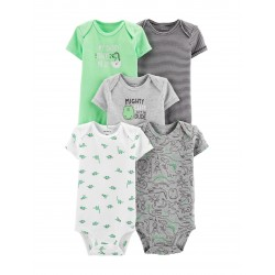 Carter's 5-pk. Mighty Cute Dino Bodysuits - Baby