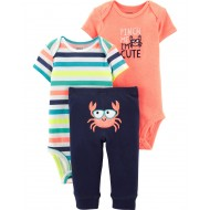 Carter's 3-Piece Neon Crab Set