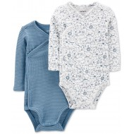 Carter's Baby Boys 2-Pack Side-Snap Printed Bodysuits