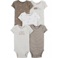 Carter's 5-Pack Peanut Original Bodysuits
