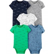 Carter's 5-Pack Airplane Original Bodysuits