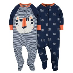 Gerber 2-Pack Boys Tiger Sleep N' Play