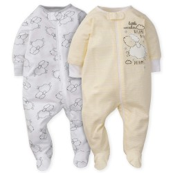 Gerber 2-Pack Neutral Lamb Sleep N' Play