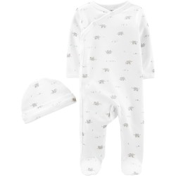 Carter's 2-Piece Cap & Side-Snap Sleep & Play Set