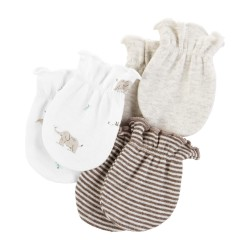 Carter's 3-Pack Mittens - Brown