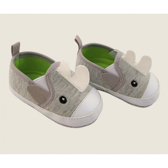 Rising Star (Newborn/Infant Boys) Grey Rhino Slip-On Sneakers