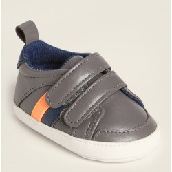 First Steps (Newborn/Infant Boys) Grey Low-Top Sneakers