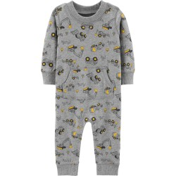 Carter's Construction Truck French Terry Jumpsuit