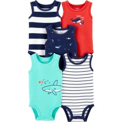 Carter's 5-Pack Whale Tank Bodysuits