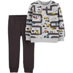 Carter's 2-Piece Construction Truck Pullover & Jogger Set
