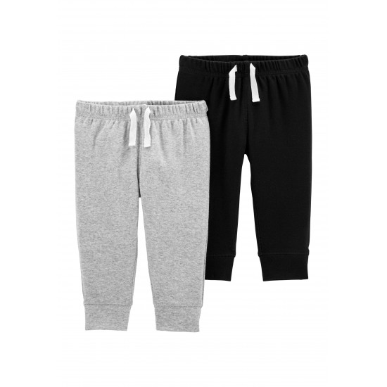 Carter's Baby Boys 2 Pack Pull On Pants