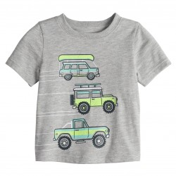 Jumping Beans Novelty Graphic Tee - Baby Boys - Grey