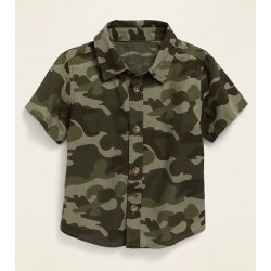 Camo-Print Poplin Shirt for Baby - By Old Navy