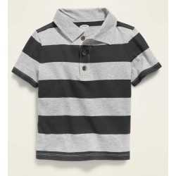 Bold-Stripe Jersey Polo for Toddler Boys by Navy