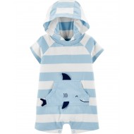 Carter's Baby Boy  Striped Shark Jersey Romper