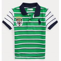 Ralph Lauren Big Pony Crest Cotton Polo 6-24 months - Green