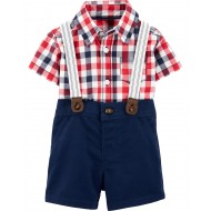 Carter's Baby 3-Piece Dress Me Up Set - Blue/Red/White