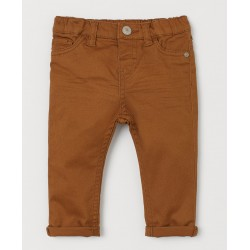 Brown Stretch Twill Pants by H & M
