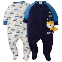 Gerber 2-Pack Boys Fox Sleep N' Play