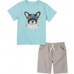 Kids Headquarters Dog Tee & Shorts Set Baby Boy (12-24M)