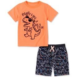 Kids Headquarters Dino Tee & Swim Shorts Set Baby Boy (12-24M)