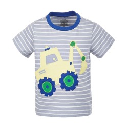 First Impressions Baby Boys Digger Cotton T-Shirt