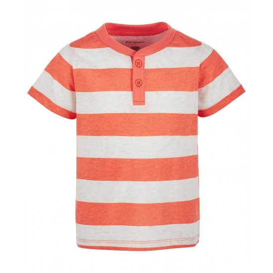 First Impressions Baby Boys Rugby-Stripe Henley T-Shirt