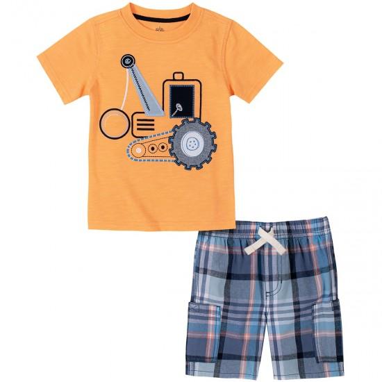 Kids Headquarters  Tractor Tee & Shorts Set (12-24M)