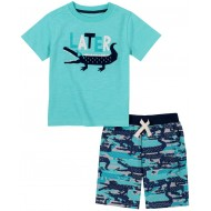 Kids Headquarters Later Gator T-Shirt & Shorts Set (12-24M)