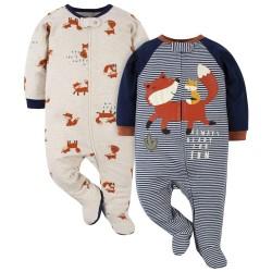 Gerber 2-Pack Baby Boys Fox Sleep 'n Plays
