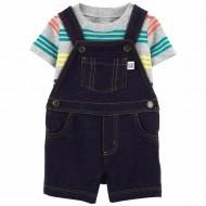 Carter's 2-Piece Tee & Knit Denim Shortalls - Baby Boy